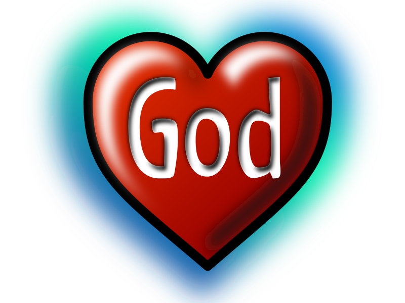 God Heart (Text converted to image|path)