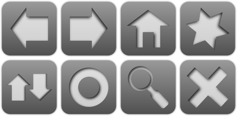 Browser icon set