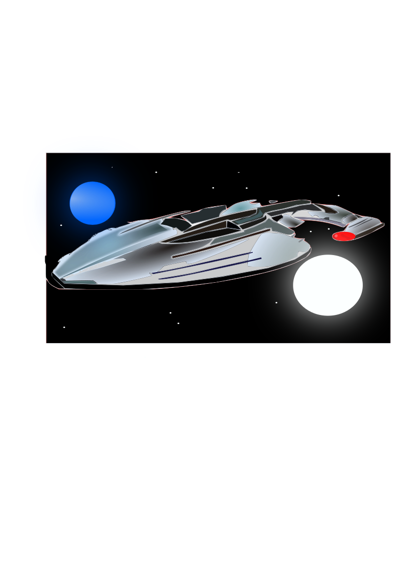 My First Inkscape Space Scene