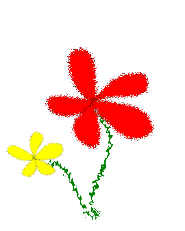 Flowers, Yellow and Red