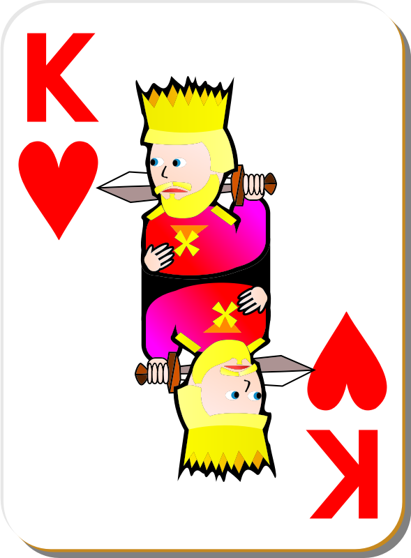 White Deck: King of Hearts
