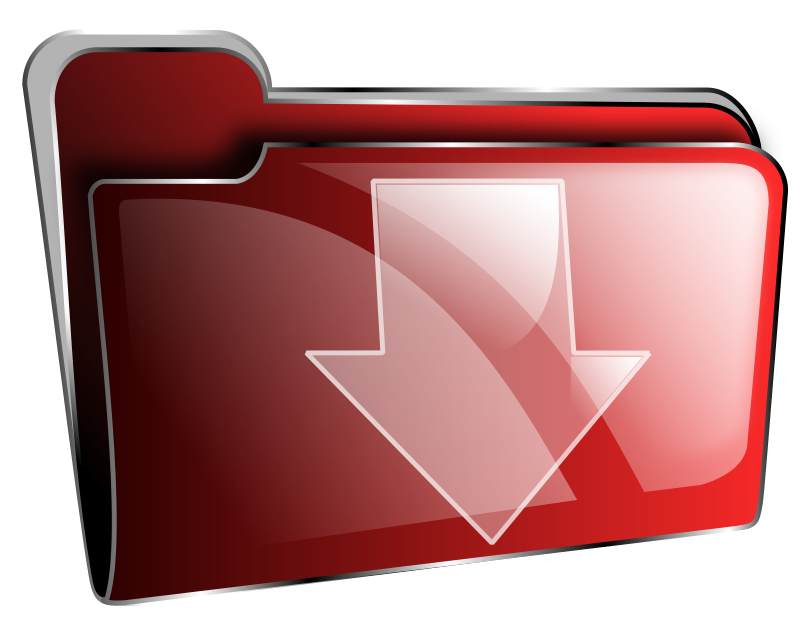 Folder icon red download