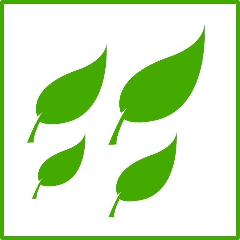 eco green leaves icon