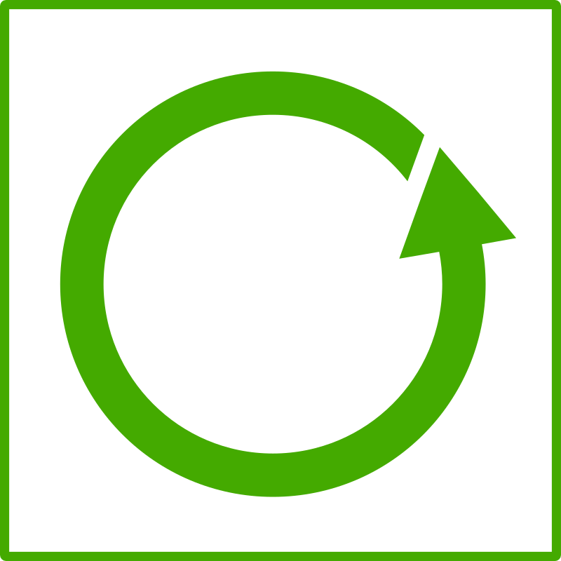 eco green recycle icon