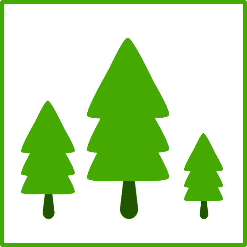 eco green trees icon