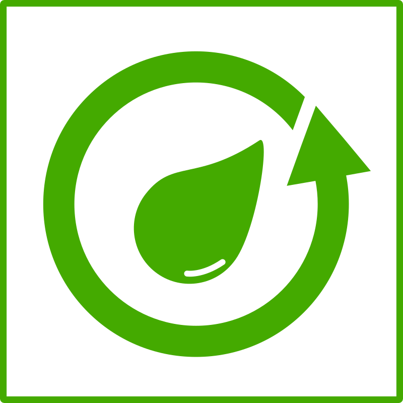 eco green recycle water icon
