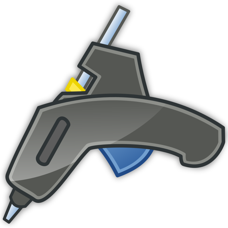 Glue Gun Tango Icon With Shadow