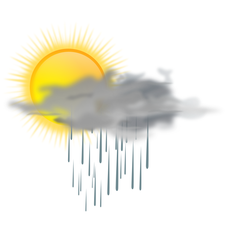 weather icon - sun rain