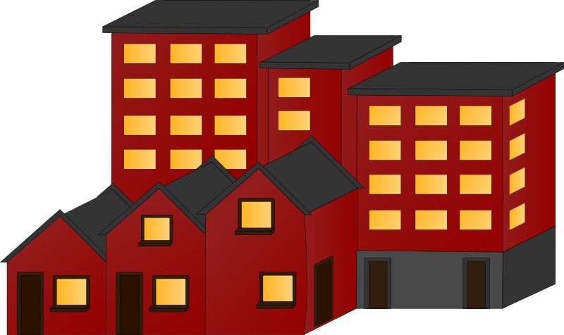 Appartment buildings and town houses