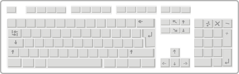 Blank White Keyboard
