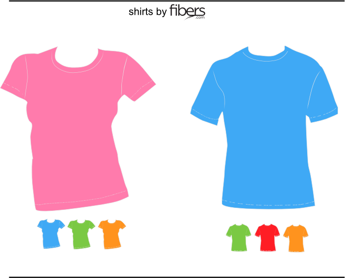 Fibers.com Vector T-Shirt Templates