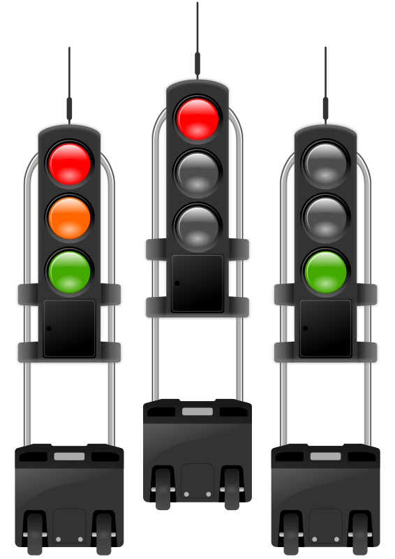 mobile traffic-lights threesome