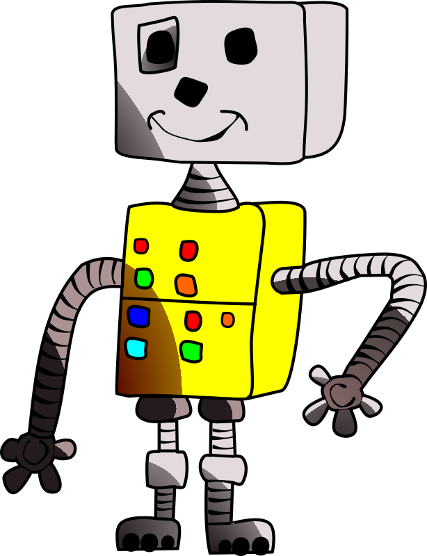 Childlike robot yellow