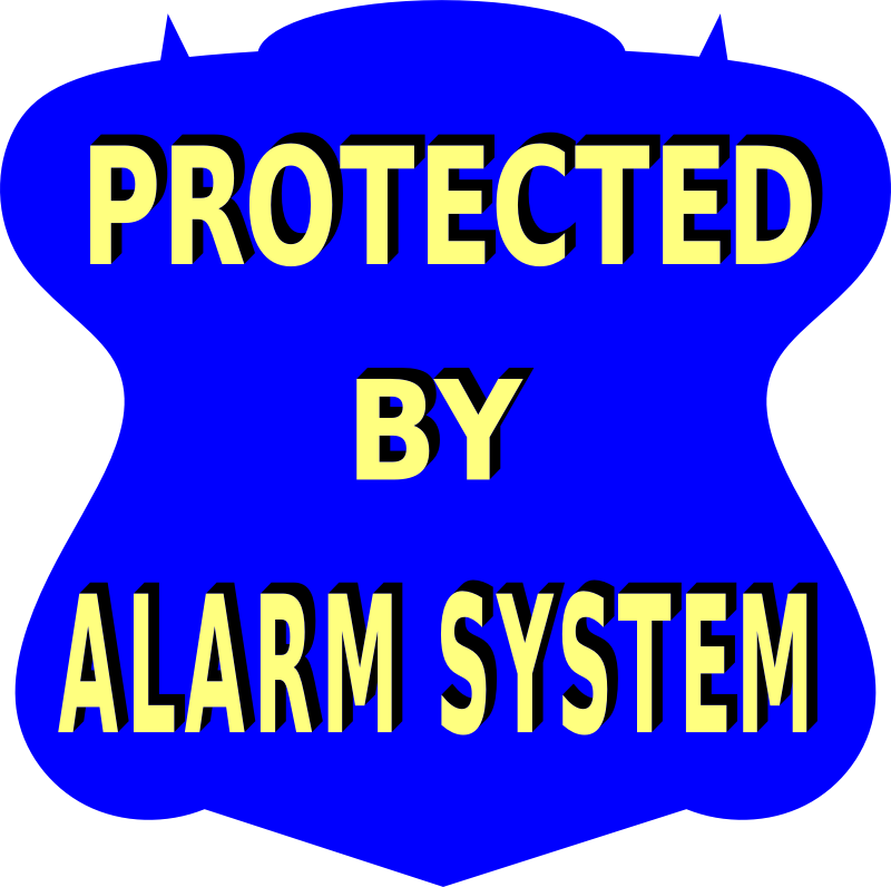 Protected by Alarm system sign 2