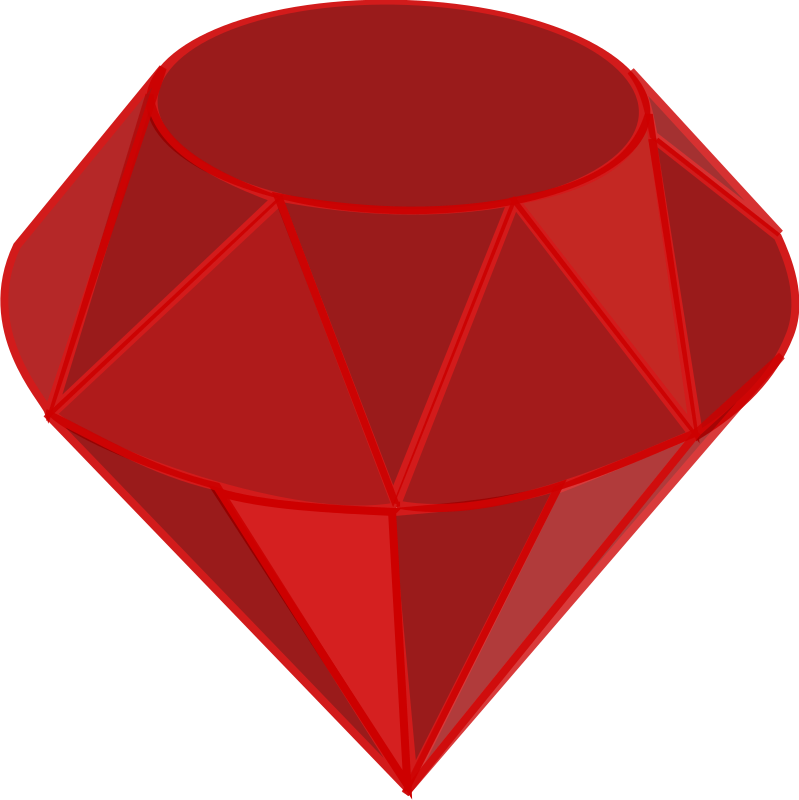 Ruby, no shading, square area