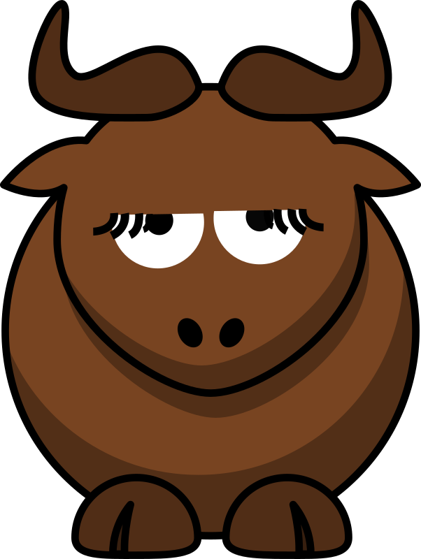 Cartoon Gnu is Disappoint
