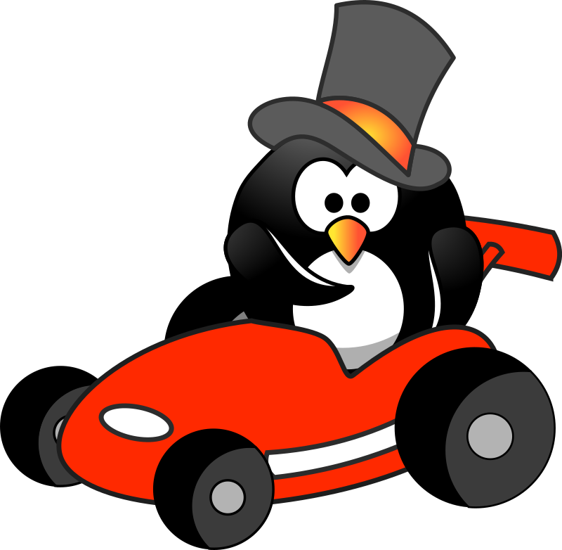 Penguin in Red Kart Wants You