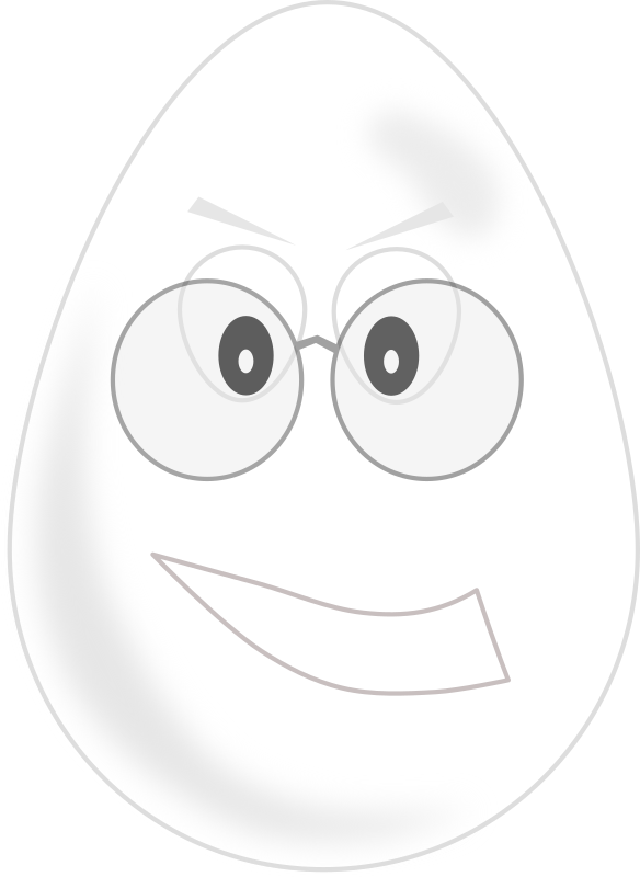 egg wear glasses