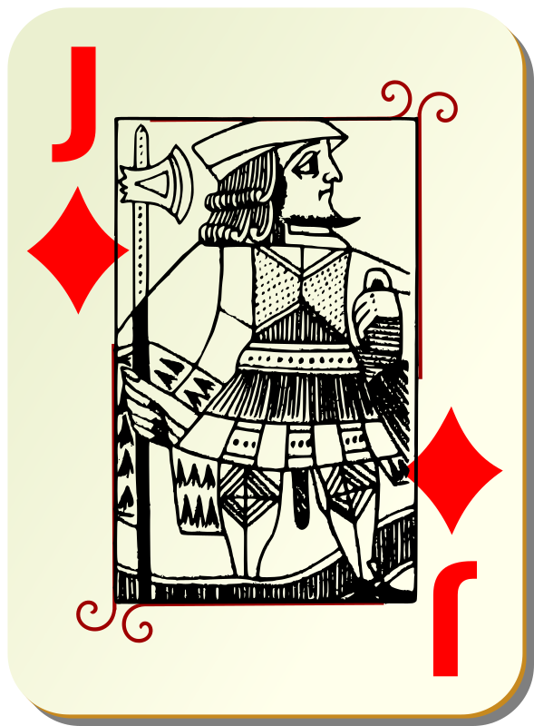 Guyenne deck: Jack of diamonds