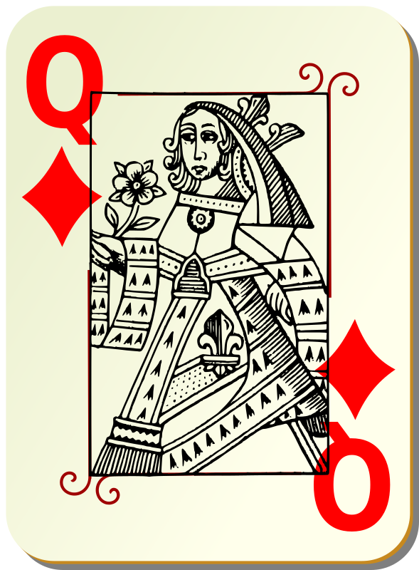 Guyenne deck: Queen of diamonds