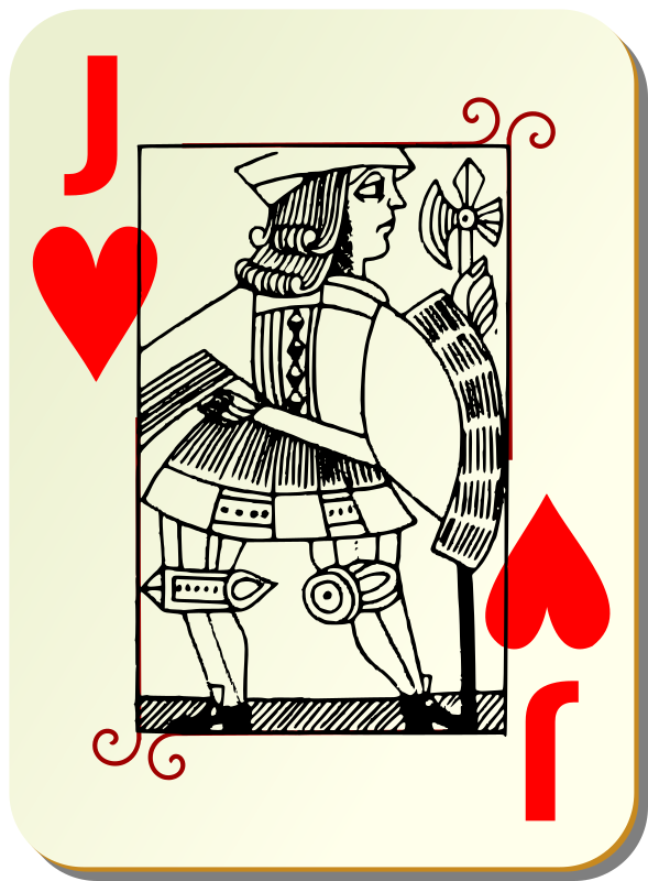 Guyenne deck: Jack of hearts