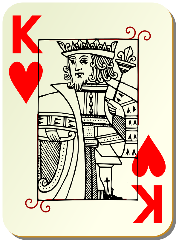 Guyenne deck: King of hearts