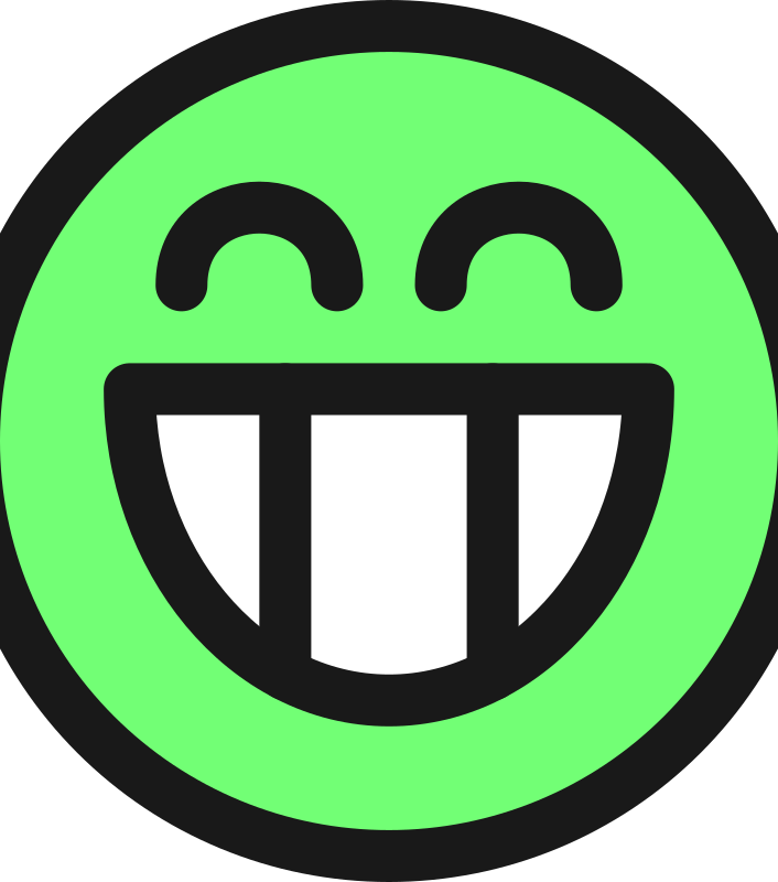 flat grin smiley emotion icon emoticon