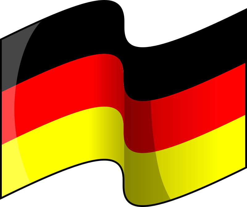Flag of Germany (waving)