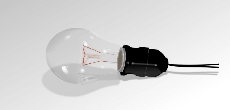 light bulb, off