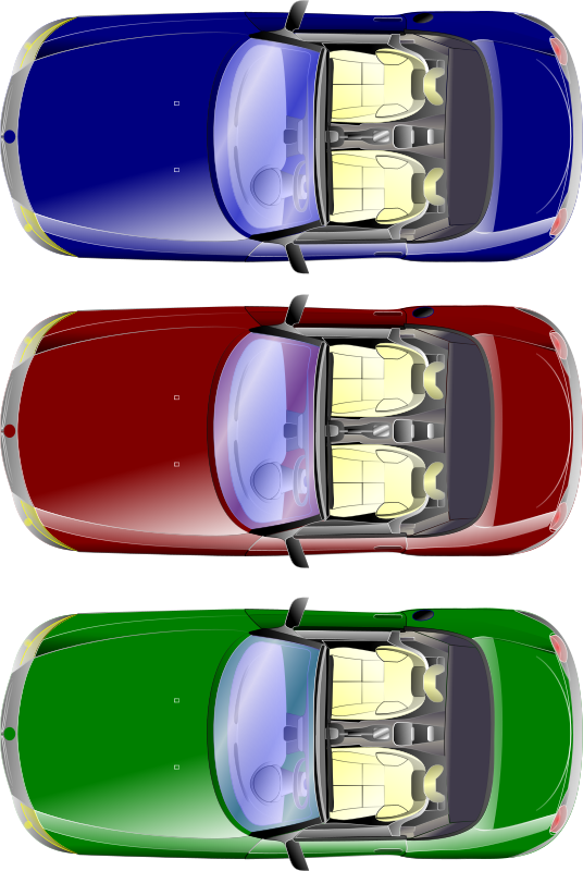 car top view