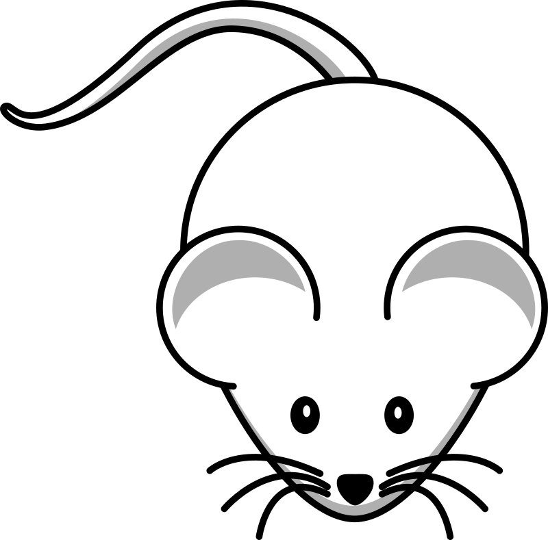 Simple cartoon mouse 1