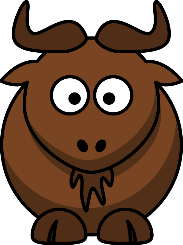 Cartoon gnu