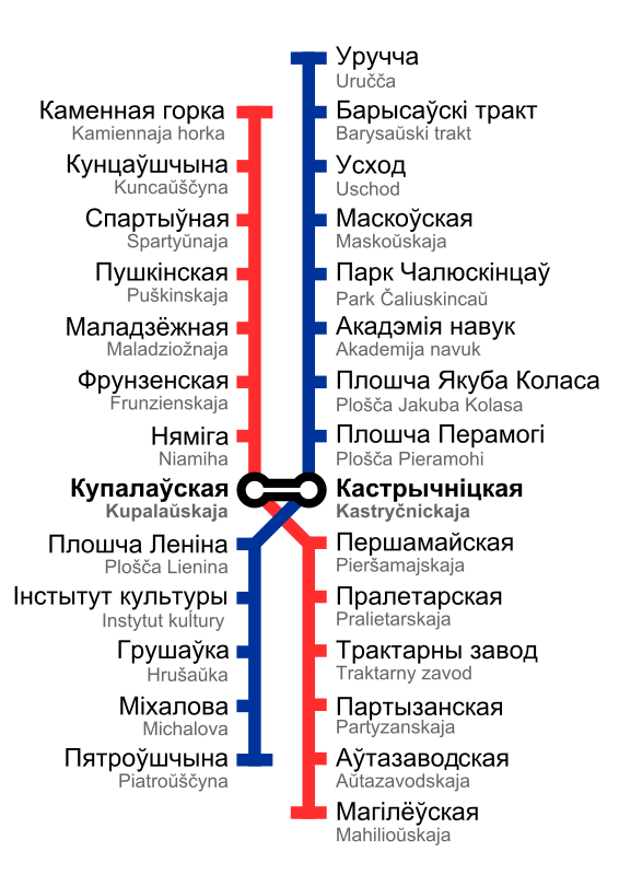 Minsk Metro Map