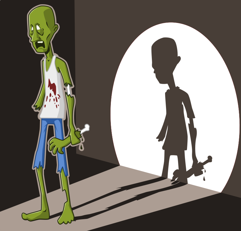 zombie in spotlight