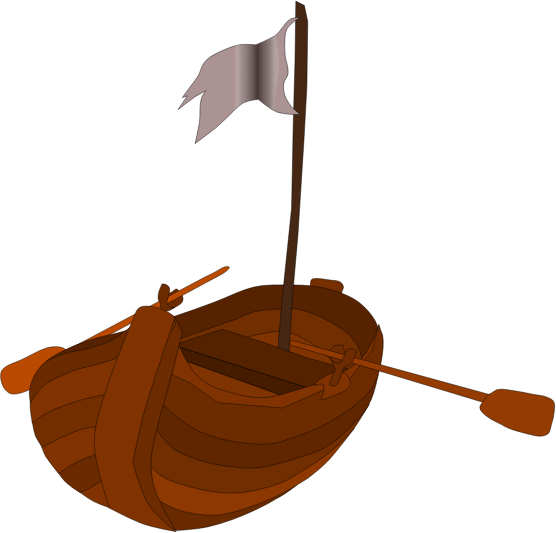 A pirate rowboat