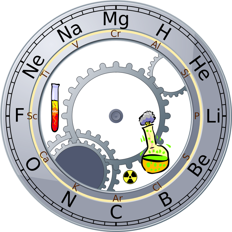 Periodic Table Roman Clock