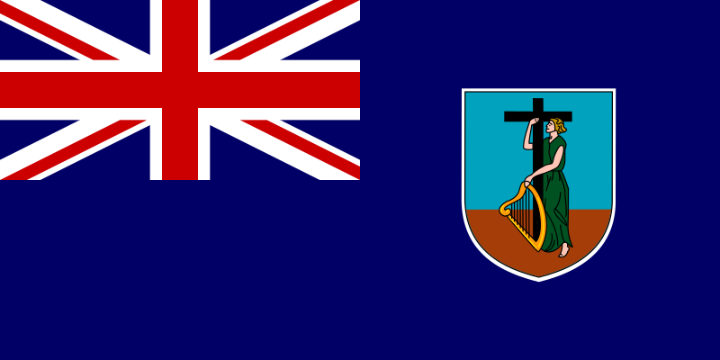Flag of Montserrat - United Kingdom