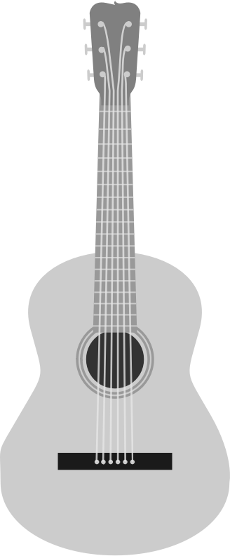 Grayscale acoustic guitar