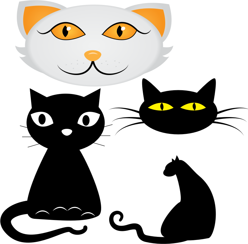 Collection of cat illustrations