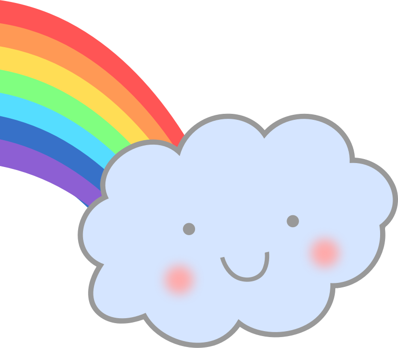 Cute Cloud with Rainbow