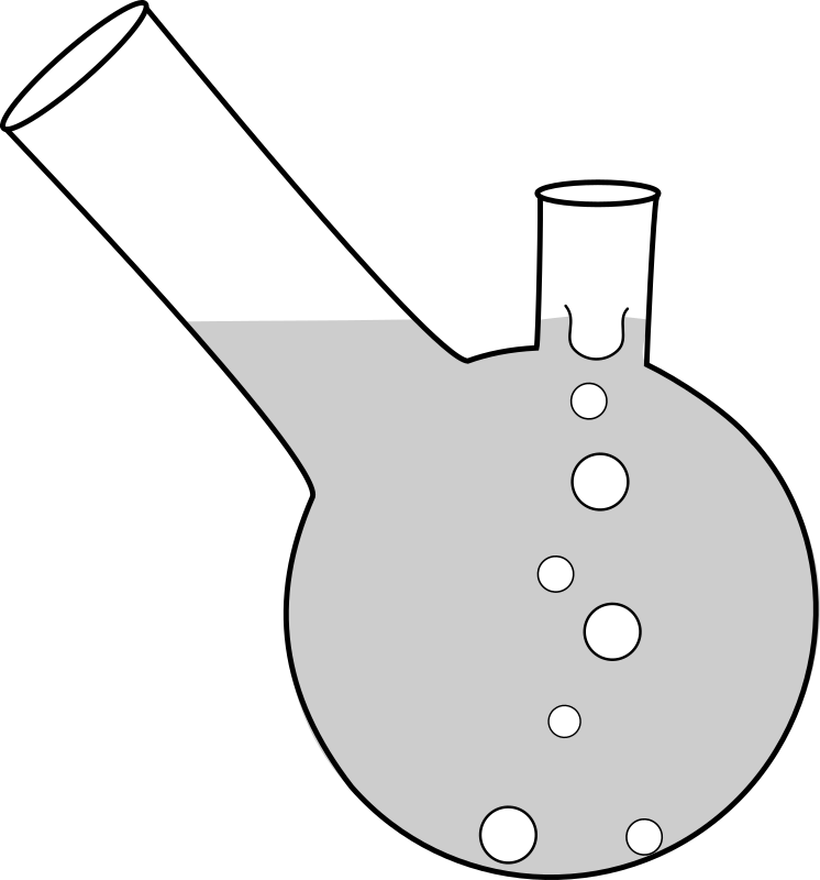 double neck boiling flask
