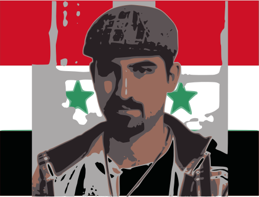 Bassel with syria flag
