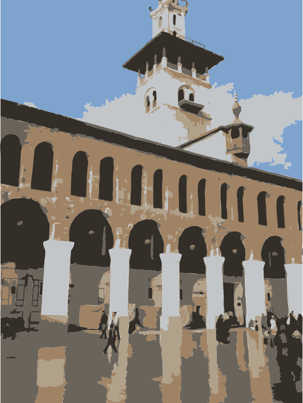 Umayyad Mosque in Damascus Vertical