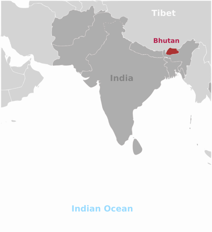 Bhutan location label