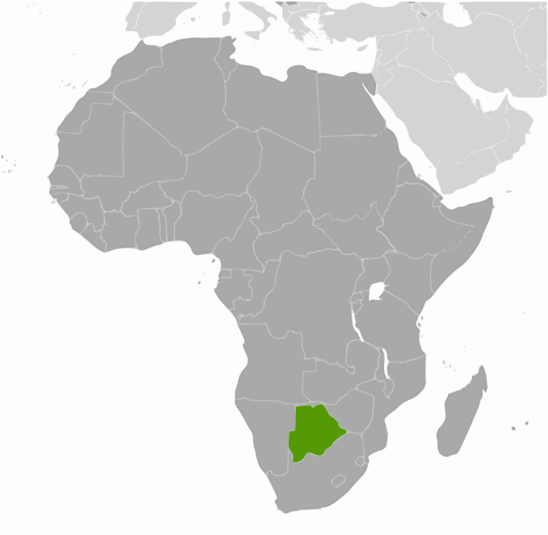 Botswana location