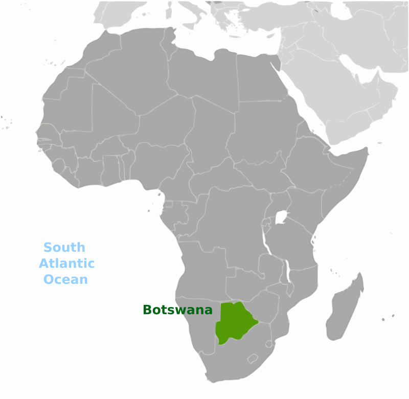 Botswana location label