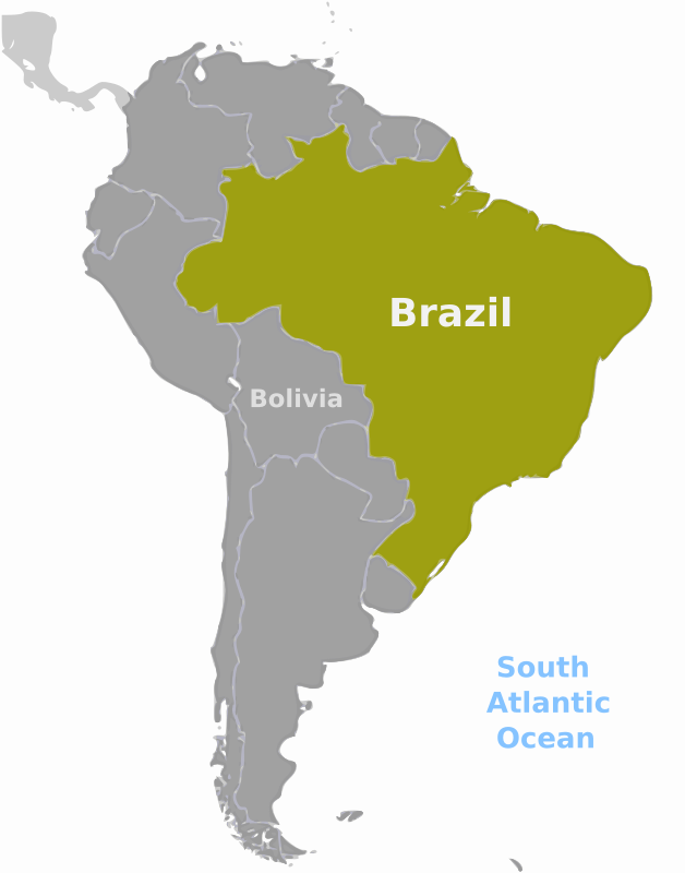 Brazil location label