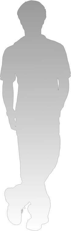 shadow of person - standing leg cross and put hands in the pockets
