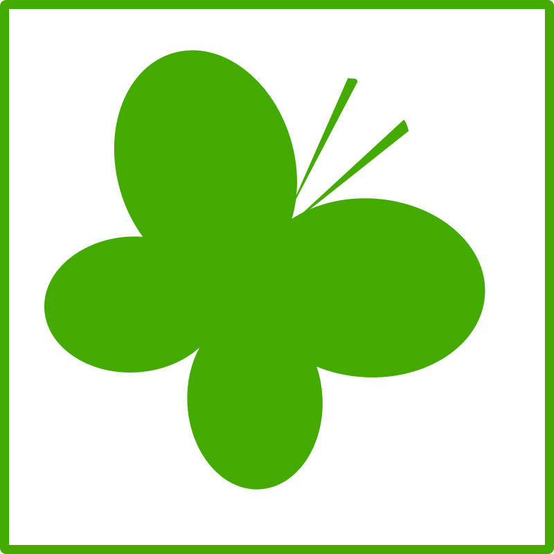 Eco green butterfly icon