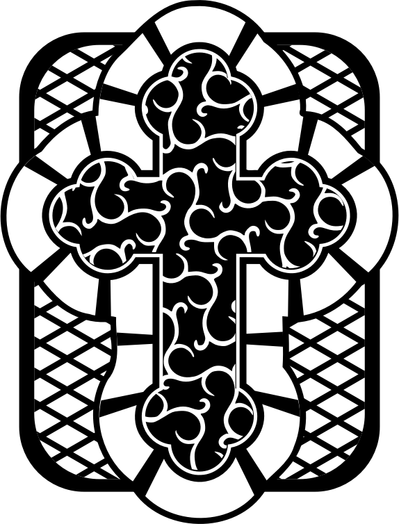 Cross 2 - Black and White